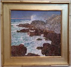 Seaweed and Surf Appledore at Sunset - Frederick Childe Hassam, 1912 de Young museum, San Francisco, CA  http://deyoung.famsf.org. #hassam