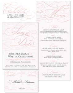 Embellish Save the Date and Wedding Day Stationery by The Green Kangaroo, Inc.