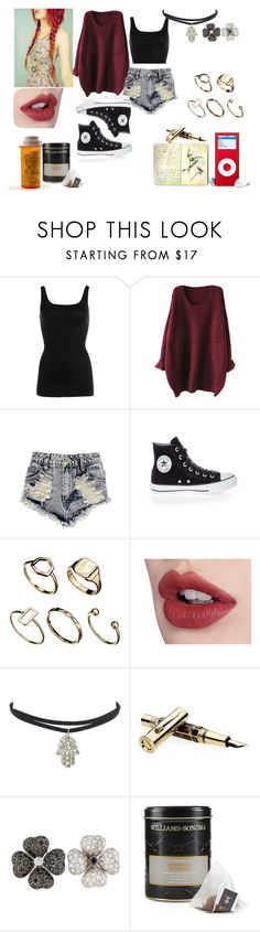 """""""Untitled #6"""" by wallflower-society ❤ liked on Polyvore featuring NIC+ZOE, Boohoo, Converse, ASOS, Moleskine, Faber-Castell, Williams-Sonoma, indie, grunge and sweaterweather"""