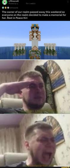 Rest in Peace Kiri - iFunny :) Minecraft Designs, Minecraft Memes, Stupid Funny Memes, Funny Relatable Memes, Video Game Memes, Faith In Humanity Restored, Wholesome Memes, Gaming Memes, Funny Games