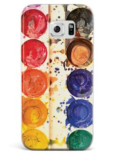 Watercolor Paint Tray Photo Case for Galaxy S6
