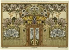 Moderne Wanddekoration mit Kunstverglasungen. (1889-1928)  Gatternicht, A.