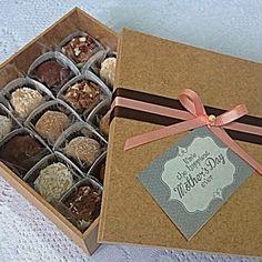 Caixa de Brigadeiro Gourmet - Sugestão de presente para o dia das mães! #BrigadeiroGourmet #MothersDay #DiaDasMães