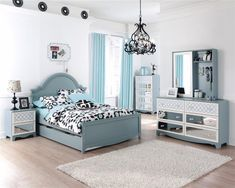 tiffany blue teen bedroom ideas | Tiffany Turquoise Blue Girls Kids French Inspired BED BEDROOM SET