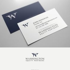 Washington Equity Partners or Washington Equity - Design a sophisticated logo and business card for new private equity firm Washington Equity Partners
