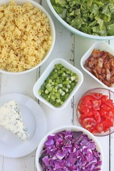 Chopped Pasta Salad. (use different dressing)