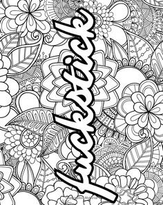 Swear Word Coloring Book, Love Coloring Pages, Spring Coloring Pages, Printable Adult Coloring Pages, Coloring Books, Coloring Stuff, Books Art, Coloring Pages Inspirational, Paisley