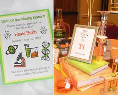 "A chemistry themed bar mitzvah -- I can see us having a geek that would want this. My husband's theme was ""nerds"""