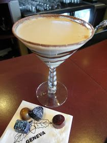 White Chocolate Caramel Martinis
