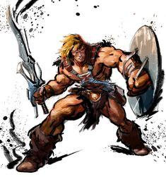 He-Man done in the Street Fighter IV art style. Hanna Barbera, Gi Joe, He Man Tattoo, Comic Books Art, Comic Art, He Man Thundercats, Star Trek, Minions, Street Fighter Characters
