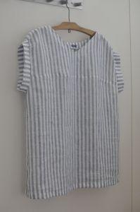 フロントバックドレス ブラウス丈 パターン:MPL フロントバックドレス ブラウス丈(丈+10cm) 布: 日暮里 にて