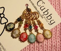 Elegance in Multi listing for SIX stitch markers by knitcubby