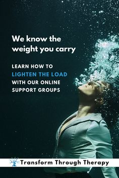 Transform Through Therapy understands the weight that you carry. Learn how to lighten the load with our online support groups. • • • #mentalillness #mentalwellness #onlinetherapy #teletherapy #grief #struggling #familyissues #relationshipstruggles #relationships #healing #loneliness #helplessness #dailychallenges  #loss  #hope #copingstrategies #support #community #transformthroughtherapy Relationship Struggles, Relationships, Emotionally Exhausted, Support Groups, Family Issues, Online Support, Self Awareness, Loneliness, Understanding Yourself