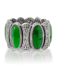 jade+filigree+sterling+silver+bracelet