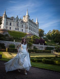 Stephanie and Alistair's real wedding at Dunrobin