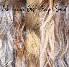 Different tones of blonde
