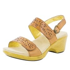 2d5da948a3b Alegria Romi Cognac stain resistant comfort shoes for women Alegria Shoes