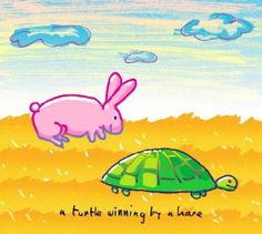 """""""a turtle winning by a hare"""" - illustrations from John Lennon's """"Real Love: The Drawings for Sean"""""""