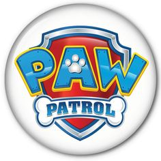"Kids PAW PATROL 3"" Pin Back Button Badge for diy Halloween Costume Prop by Badgelady117 on Etsy"