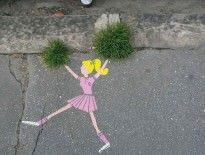 27 Pieces Of Street Art That Interact With Nature Guerrilla Gardening