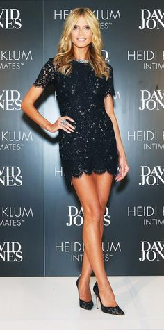 Look of the Day - January 28, 2015 - Heidi Klum from #InStyle