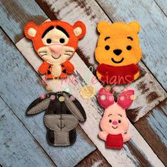 Honey Bear Forest Friends Finger Puppets sold separately or buy the whole set. These items and many more are available for purchase from https://www.etsy.com/shop/SchoolhouseBoutique