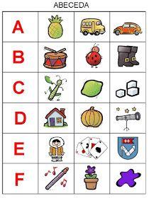 Pro Šíšu: Abeceda - prirazovani obrazku Montessori Activities, Teaching Activities, Preschool Worksheets, Educational Activities, Activities For Kids, Preschool Crafts, Alphabet For Kids, Alphabet Book, Emotion Faces