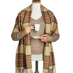 Wraps and Jackets 105472: Bronte Tartan Merino Lambswool Stole Wrap Shawl British Made 50Cm Wide Scarf -> BUY IT NOW ONLY: $34.99 on eBay!