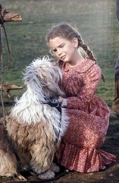Laura and the faithful Jack  Little House on the Prarie, television series...