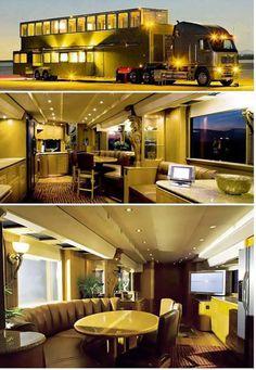 caravan design 18929260907642936 - – Truck House Source by Cool Trucks, Big Trucks, Semi Trucks, Truck House, Luxury Motorhomes, Kombi Home, Luxury Rv, Luxury Vehicle, Semi Trailer
