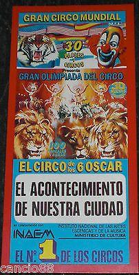 Entrada Circo Circense Gran Circo Mundial Invitacion especial 3D Animales fieras