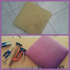 Prima e dopo....niente male!!!! #seduta #bricolage