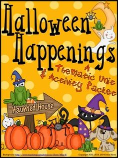Halloween+Happenings+~+A+Thematic+and+Activity+Packet+For+October+and+Halloween+  This+BEST+SELLER+{TOP+100+ON+TpT}+has+been+updated+to+125+pages!+  This+unit+has+games,+activities,+foldables,+puzzles+and+printables+all+relating+to+Halloween.+This+resource+and+activity+unit+includes:  ~Halloween+Book+List  ~Making+Connections+Printable+and+Foldable  ~Five+Senses+Printables+and+Foldables  ~Halloween+Rhymes  ~Halloween+Verbs  ~Halloween+Word+Scramble  ~Variety+of+Writing+Activities+
