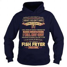 FISH-FRYER - #t shirts #dress shirt. CHECK PRICE => https://www.sunfrog.com/LifeStyle/FISH-FRYER-Navy-Blue-Hoodie.html?id=60505