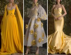 (99+) Tumblr Fashion Show Dresses, Georges Hobeika, Couture Collection, Alexander Mcqueen, Formal Dresses, Spring, Clothes, Yellow Outfits, Moon