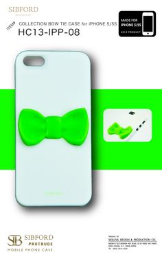 BOW TIE CASE MODEL  HC13-IPP-08 FOR PHONE  iPHONE 5 5S COLOR  WHITE CASE b06e26002e4be