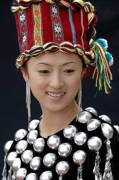 China   Portrait of a Dia woman from Xishuangbanna, Yunnan Province