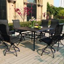 Amazon.com : Meadow Décor K7C6 W5448 Kingston 7 Piece Counter Height Patio  Dining Set, 72 Inch, Walnut : Patio Furniture : Patio, Lawn U0026 Garden |  Pinterest ...