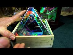 Dichroic Boro Glass Infinity Mirror Effect Pyramids 001 Two Way Mirror, Mirror Box, Led Mirror, Infinity Lights, Diy Infinity Mirror, Mirror Illusion, Led Projects, Mirror Effect, Magic Mirror