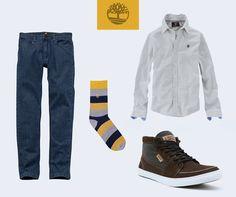 Dica de look bacana. Nossa camisa Basketweave Stripe, Calça Jeans Heritage e tênis EK City Escape. Pra dar um toque mais descontraído, que tal uma das nossas meias coloridas?