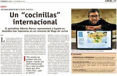 Noticia en La Gaceta de Salamanca sobre el resultado del concurso de Gourmet Garden