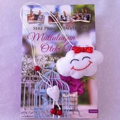 Kitap ayracı bulutlu #felt #bulut #keçe #kitapayracı