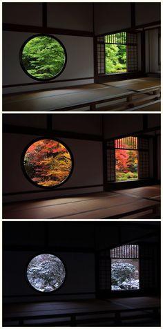 Genko-an Temple -  Kyoto,Japan   Summer/Fall/Winter