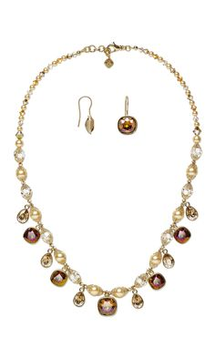 Jewelry Design - Single-Strand Necklace and Earring Set with Swarovski® Crystals and Almost Instant Jewelry® Drops - Fire Mountain Gems and Beads