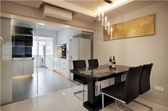 HDB>Hougang>Singapore contemporary dining room