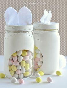 DIY Bunny Candy Jars - Craft-O-Maniac