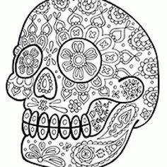 Sugar Skull Coloring Pages Sugar skulls Sugar skull design and