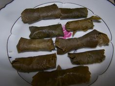 wild grape leaves (info and recipe)