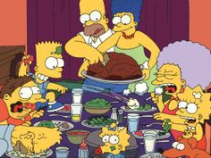 Thanksgiving with the Simpsons