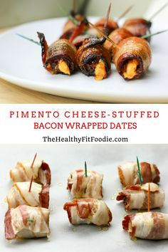 Sweet meets savory with these Pimento cheese-stuffed bacon wrapped dates. 4 simple ingredients pack a punch and are a perfect appetizer for the big game! #SundaySupper